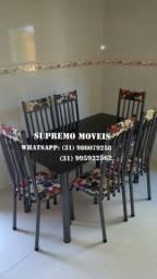 Título do anúncio: Mesa de 6 cadeiras direto da fábrica