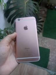 Celular iphone 6s rosa funcionando