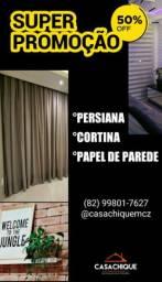 CORTINAS PERSIANAS & PAPEL DE PAREDE