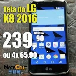 Tela / Display para Lg K8 2016 K350DS -Melhor Preço do ES e Instalação em 30 Minutos!