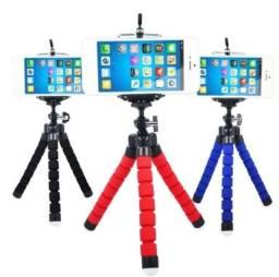 Mini Tripé Flexível para celular, câmera + Suporte de celular de brinde