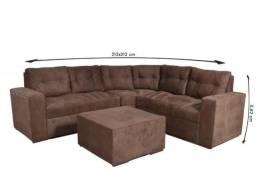 Título do anúncio: Novidade - Sofa com Pufe - Sofa de Canto