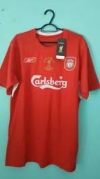 Camisa do Liverpool retrô final Champions League 2005 Masculina - Em Estoque