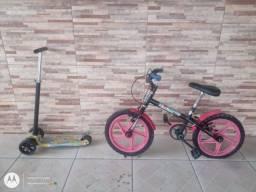 Título do anúncio: Bicicleta e patinete