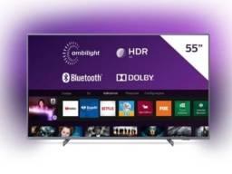 Smart TV Led 55'' Philips 55PUG6794 4k Ambilight 3 lados Hdr10+Bluetooth com nf