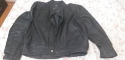 Jaqueta de couro p/motoqueiros