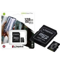 Cartão De Memória Micro SD 128GB Kingston Classe 10 100MB/S - Loja Dado Digital