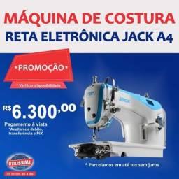Título do anúncio: Máquina de costura Reta Eletrônica Jack A4 branca e azul-celeste