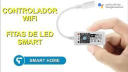 Mini controlador RGB wifi para Fita LED - Compatível com Alexa e Google home