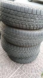 Título do anúncio: 4 pneus 225 70 16 yokohama 700 os 4