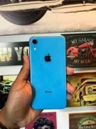 Título do anúncio: IPhone XR 64gb azul 87% bateria