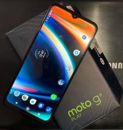 "Smartphone Motorola Moto G9 Play 64GB 4GB RAM Tela 6.5"" - Verde Turquesa"
