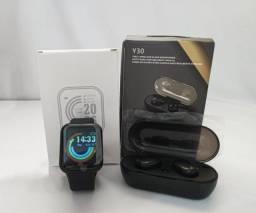 Título do anúncio: kit Smartwatch d20/y68 + Fone de ouvido Y30 fitness bluetooth