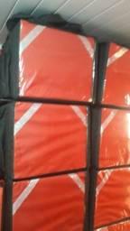 Bag Lisa Vermelha e preta nova reforçada