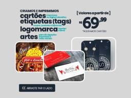 Título do anúncio: Cartões de visitas, etiquetas tags, criações de artes, logos, a partir de R$ 69,00