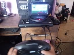Plataforma de Jogos do Mega Drive Retrô com Tela com Jogos no Cartão Micro SD