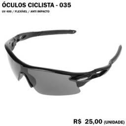 Óculos de Ciclismo 35 (Escuro com Armação Preta) Proteção UV