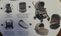 Carrinho de bebê, Moisés,bebe conforto,canguru + mobile musical para berço Preto-Chicco