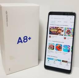 "Celular Samsung Galaxy A8 Plus Ametista Dual Chip 64GB Tela de 6"""