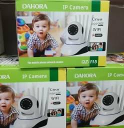 Câmera Sem Fio Wireless Ip Ir Visão Noturna Wifi 5 Antenas