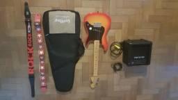 Guitarra Profissional Infantil e Caixa de som !!