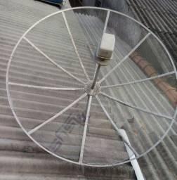 Antena pararabólica com receptor
