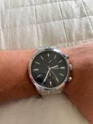Relógio Fossil Masculino Prateado Analógico Fs4784