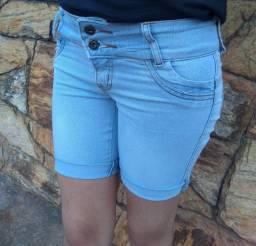Bermuda Jeans Criança Menina 10 ao 16 Ajustável ao Corpo