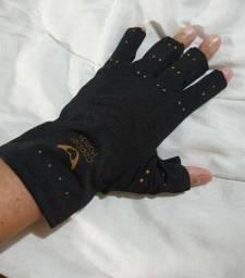 Luva de algodão com dedos abertos