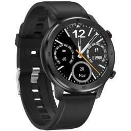 Relógio Smartwatch DT78 Preto Monitor Cardíaco e a Prova D´Água IP68