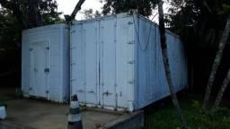 Planta de Produção com Máquina Descascadora de Camarão Camara Fria Mesa Container Reefer