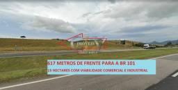 Área de terra Comercial Industrial a venda de frente para BR 101