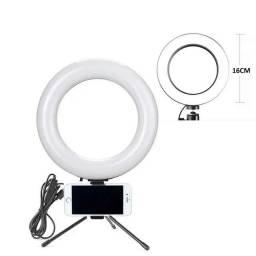Iluminador Led Ring Light 16 cm 6 polegadas com suporte de celular