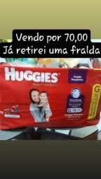 Título do anúncio: Fralda roupinha huggies