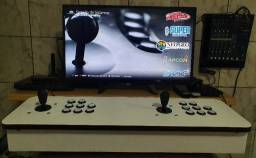 Fliperama multijogos com sistema raspbarry pi 3 completo com milhares de jogos inclusos!