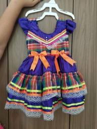 Vestido infantil de Quadrilha