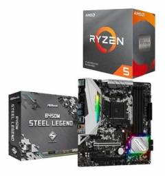 Kit upgrade ryzen 5 3600x + b450 stell legend