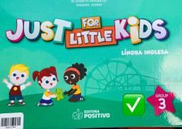 Livro didático Just for little Kids - língua inglesa