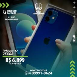 IPHONE 12 - 5G, LACRADO, 256GB ( GARANTIA, 12 MESES ) CORES: AZUL, BRANCO, PRETO, VERDE