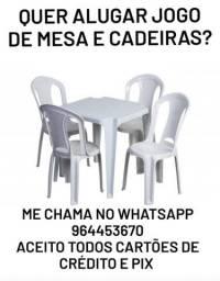 Flávio cadeiras e mesas cerâmica Nova Iguaçu