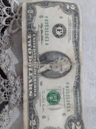 Nota rara 2 dólar ano 1995
