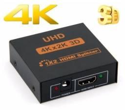 Splitter HDMI/3D/4K/1080p Extensor de saída - 1 Entrada para 2 saídas