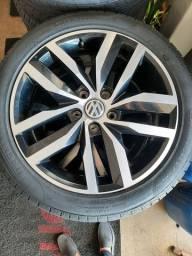 Jogo de Rodas Golf MK7 Tsi Usada original pneus semi novo