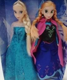 Boneca Frozen Elsa e Ana PVC