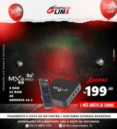 Tv box 8ram 64rom Android 10.1 smart inteligente garantia