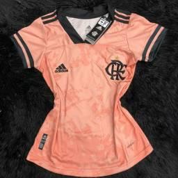 Camisa Flamengo feminina Rosa