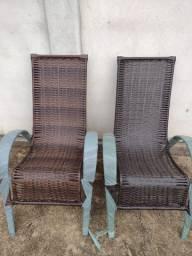 Cadeira esmeralda junco sintético
