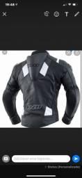 Jaqueta e calça em couro de motociclista x11
