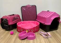 Conjunto para Pet, Caminha, Casinha, Transporte Kit completo *