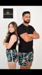 Kit casal de shorts tactel
